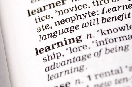indoctrinate: The word learning written in a thesaurus