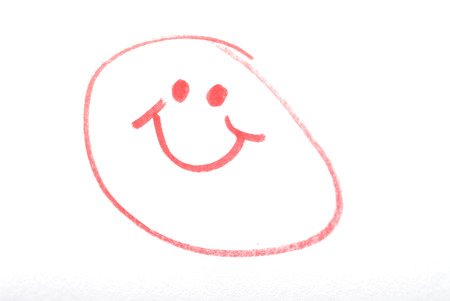 A cartoon drawing of a happy face