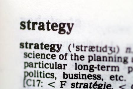 pensamiento estrategico: Parte de una serie de palabras de estrategia basados Foto de archivo