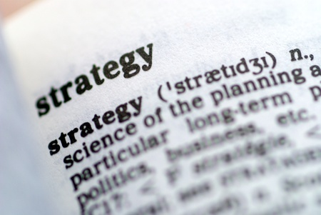 Part of a series of strategy based words Stock Photo