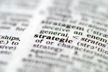 pensamiento estrategico: Parte de una serie de palabras de estrategia por Foto de archivo