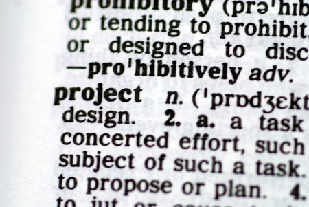 The word project taken from a dictionary