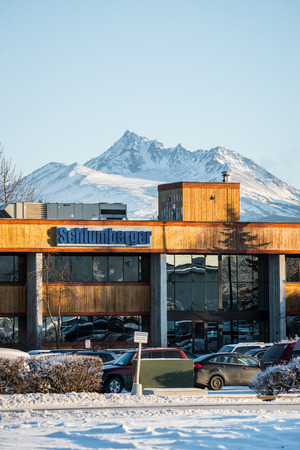 anchorage: Schlumberger, the major oilfield services company, office at Anchorage, Alaska Editorial