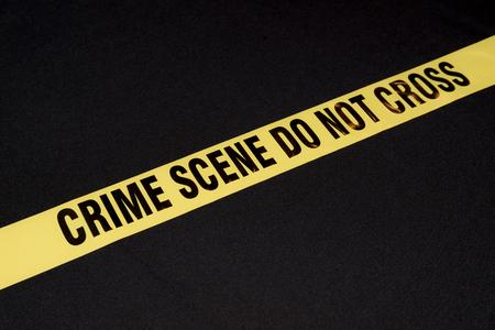 do not cross: Crime scene do not cross yellow warning sign on black