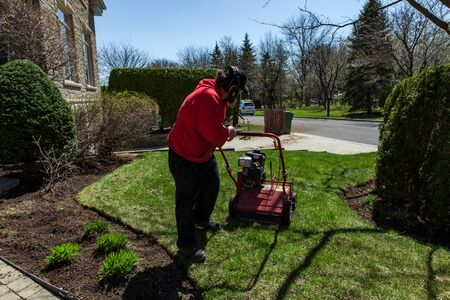 This HD picture is part of a photo collection that highlights the various landscaping tools, seasonal jobs and tasks.