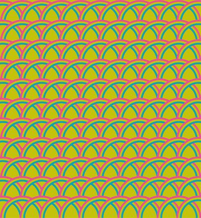 Colour geometrical pattern on a green background Stock Photo