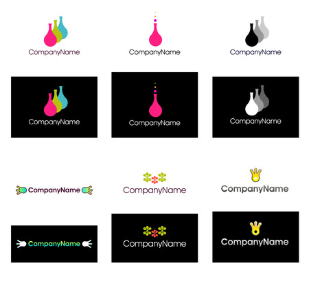 Collection of vector logos for company identity