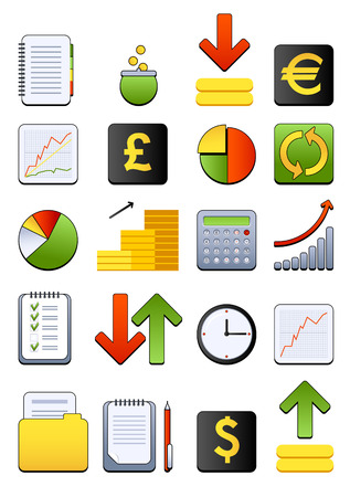 folder icons: Vector financial icon
