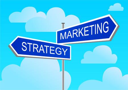 index marketing, strategy Illustration