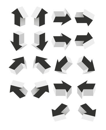 collection of gray arrow