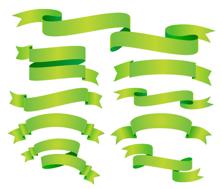 vector green banners