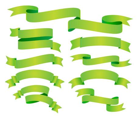 vector green banners