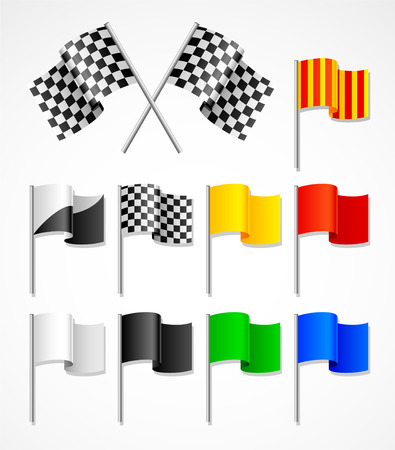 vector set of sport flags