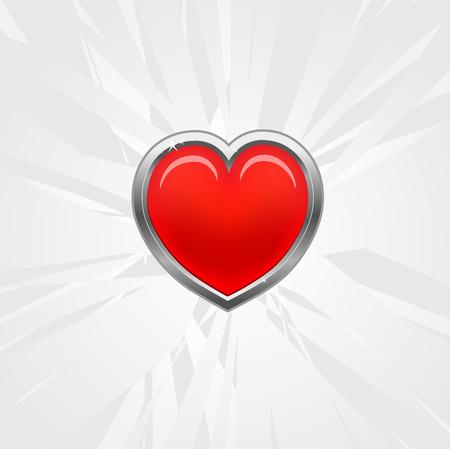 red heart Stock Vector - 6254642