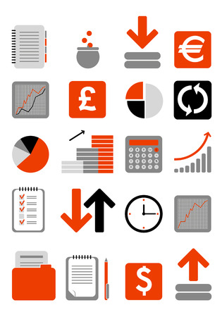 overdracht: Financiën web pictogram Stock Illustratie