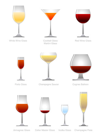 collection of alcoholic drink Stock Vector - 6487923