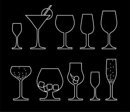 collection of alcoholic glass Stock Vector - 6487918