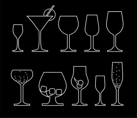 alcoholist: verzameling van alcohol glas