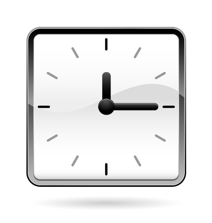 square: office square clock Illustration