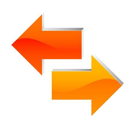 arrow right: freccia a sinistra e a destra