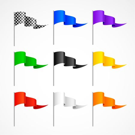 set of sport flags Vector