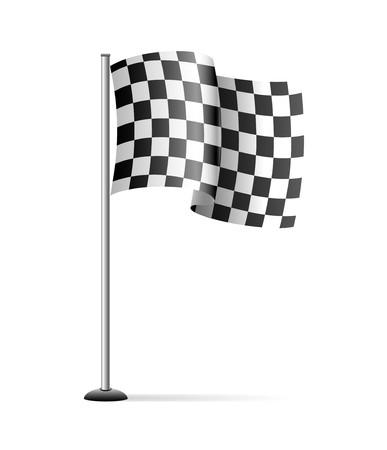 Bandera a cuadros de deporte  Foto de archivo - 7254675