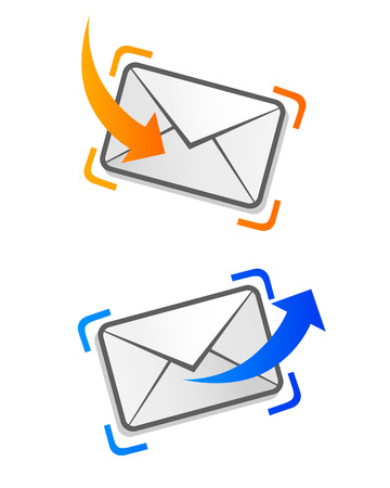 electronic mail: email letter Illustration