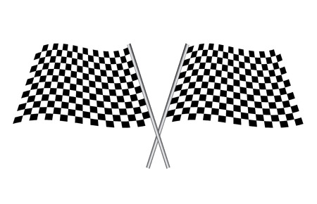 checker: black and white checkered flags