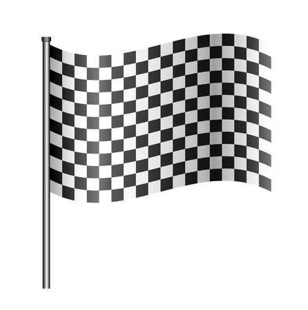 motorcycle racing: checered sport flag