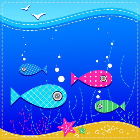 underwater. ocean and fishes. Stock Vector - 7791502