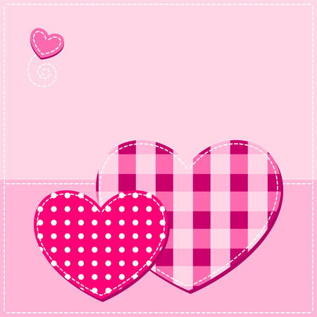 love card. pink hearts Vector