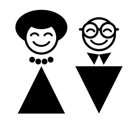 symbol of happy man and woman Vector