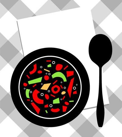 food on plate Illustration