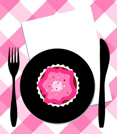 fruitcakes: dessert on plate