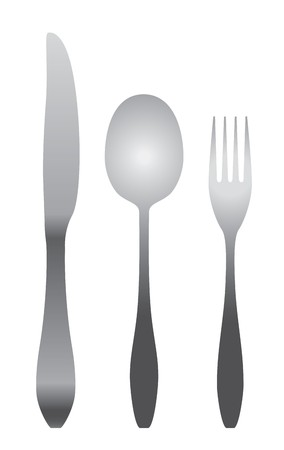 spoon, fork & knife