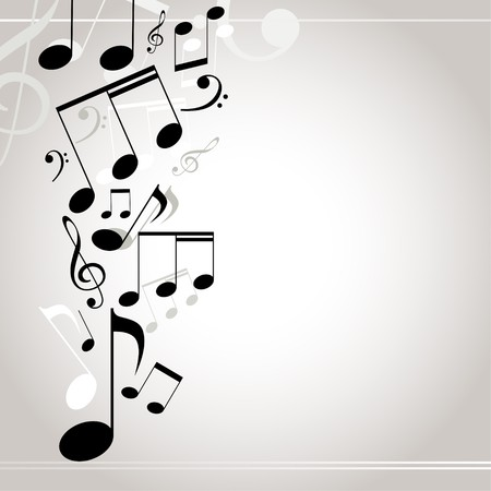 musical background. notes Stock Photo - 8144799