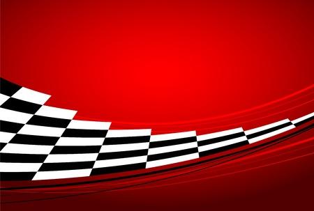 cuadros blanco y negro: carreras de fondo rojo