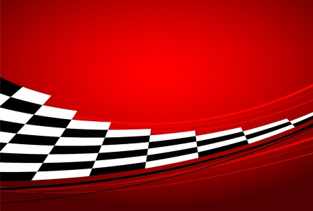 checkered flag: Racing sfondo rosso