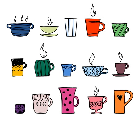 color cup of tea or coffee Vector