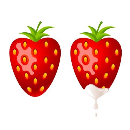 season: Strawberry in white chocolate