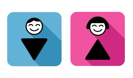 simbolo uomo donna: WC segno simbolo dell'uomo e della donna