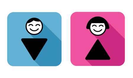 wc sign: WC Sign  symbol of man and woman  Illustration