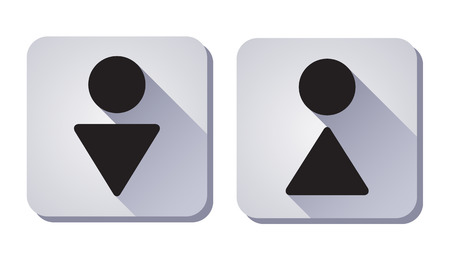 man and women wc sign: WC Sign  symbol of man and woman  eps8 Illustration