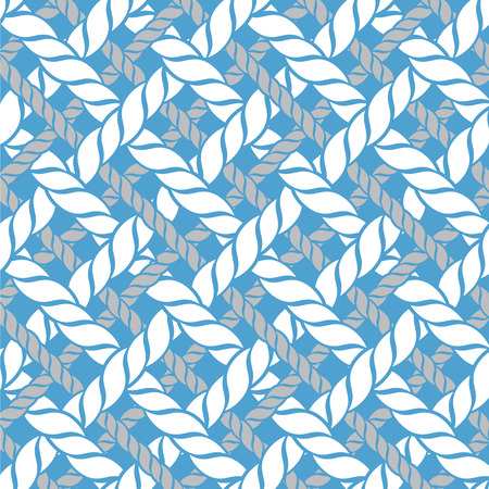 motif bleu et blanc de cordes marines Vecteurs