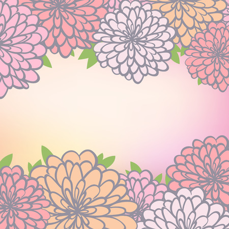 copy spase: beautiful background with chrysanthemum