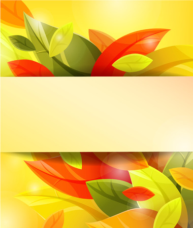 autumn background with leaves.  Vector