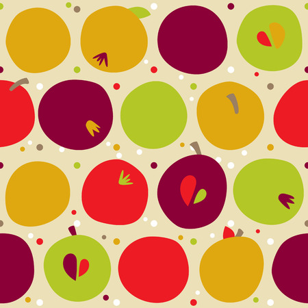 thanks giving: seamless pattern of autumn apple. Harvest background and Thanks giving dinner.