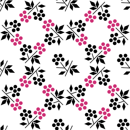 Seamless pattern with raspberry. Minimalism and scandinavian style. Background design for textile, wrapping paper. eps 10