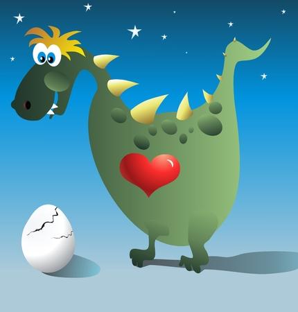 dinosaur egg: dinosaur and egg Illustration