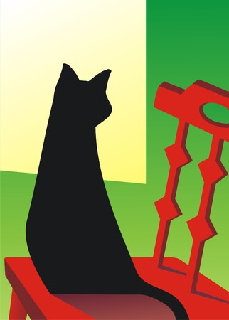 black cat Stock fotó